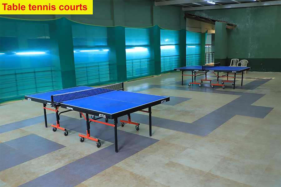 5 Table tennis courts