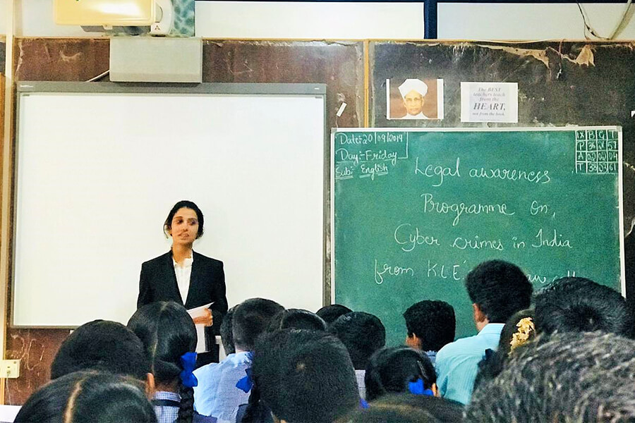 Legal Awareness on Cyber Law Cyber Crimes in Sacred Heart School dated 24-9-2019