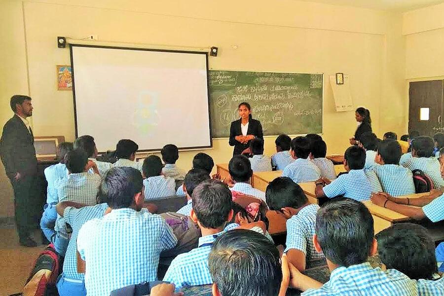 Legal Awareness Program in H.F Kattimani School 25-02-2019