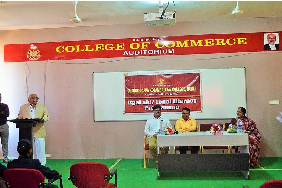Legal Awareness Program in KLE College of Commerce Hubballi 26-02-2020