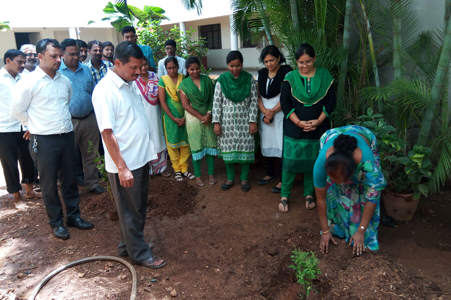 Earth Day Celebration in Assn. with M.R.Sakhare School, HUbballi dated 22-4-2017
