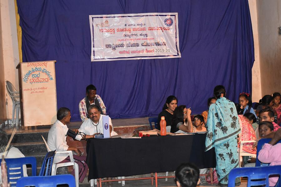 Health Awareness Programme and Health Check up at Gram Panchayat, Bhandiwad Village, Taluk Hubballi dated 6.3.2020