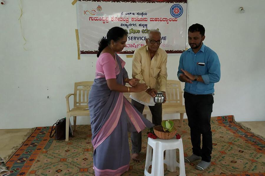 Inauguration and Awareness programme on water conservation at Gram Panchayat Kadanakoppa dated 17.5.2018